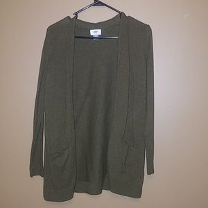 Old Navy Army Green Cardigan